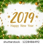 happy new year illustration.... | Shutterstock .eps vector #1228486492