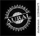 aural written with chalkboard... | Shutterstock .eps vector #1228486675