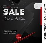 black friday sale inscription... | Shutterstock .eps vector #1228497895