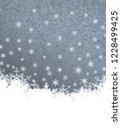 2d illustration. snowflakes on... | Shutterstock . vector #1228499425