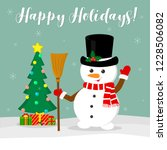 new year and christmas card.... | Shutterstock .eps vector #1228506082