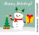 new year and christmas card.... | Shutterstock .eps vector #1228506085
