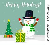 new year and christmas card.... | Shutterstock .eps vector #1228506088