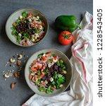 homemade vegetarian cuisine  ... | Shutterstock . vector #1228543405