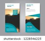 narrow flyer and leaflet design.... | Shutterstock .eps vector #1228546225