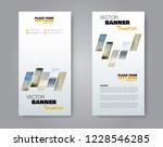 narrow flyer and leaflet design.... | Shutterstock .eps vector #1228546285
