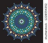 arabic floral ornament.... | Shutterstock .eps vector #1228554352