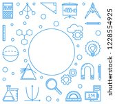 stem minimal frame. vector...   Shutterstock .eps vector #1228554925