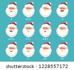 santa claus head with mouth... | Shutterstock .eps vector #1228557172