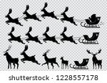 santa claus sleigh with... | Shutterstock .eps vector #1228557178