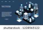 isometric server room and big... | Shutterstock .eps vector #1228565122
