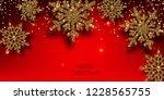 merry christmas  greeting... | Shutterstock .eps vector #1228565755