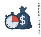 quick credit. fast money. bag... | Shutterstock .eps vector #1228565782