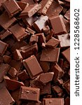 chocolate background. chocolate ...   Shutterstock . vector #1228568602