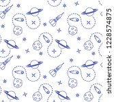 seamless pattern with rocket ... | Shutterstock .eps vector #1228574875