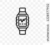 smartwatch vector linear icon... | Shutterstock .eps vector #1228577932