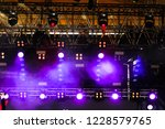 blue light on stage as abstract ... | Shutterstock . vector #1228579765