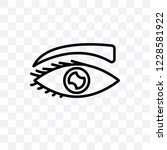 eye with lashes vector linear... | Shutterstock .eps vector #1228581922