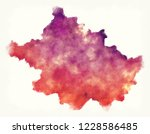 tyrone old district watercolor...   Shutterstock . vector #1228586485