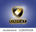 golden emblem or badge with... | Shutterstock .eps vector #1228590538
