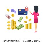 different types of money and... | Shutterstock .eps vector #1228591042