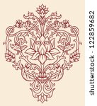 ornate lotus flower vector | Shutterstock .eps vector #122859682