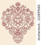 ornate lotus flower vector | Shutterstock .eps vector #122859682