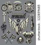 motorcycle vector elements set | Shutterstock .eps vector #122859685