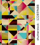 retro abstract geometric... | Shutterstock . vector #122859688