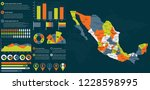 detailed mexico map with... | Shutterstock .eps vector #1228598995