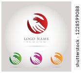 kids health   care logo. symbol ... | Shutterstock .eps vector #1228599088
