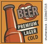 vector banner with words beer ... | Shutterstock .eps vector #1228607215