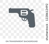 pistol icon. pistol design...   Shutterstock .eps vector #1228612492