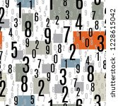 numbers shapes seamless pattern ...   Shutterstock .eps vector #1228615042