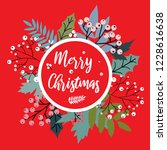 vector christmas card with... | Shutterstock .eps vector #1228616638
