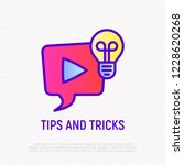 tips and tricks thin line icon. ... | Shutterstock .eps vector #1228620268