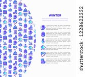 winter concept with thin line... | Shutterstock .eps vector #1228622332