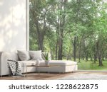 minimal sofa located at the... | Shutterstock . vector #1228622875