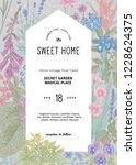 vintage vector invitation.... | Shutterstock .eps vector #1228624375