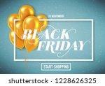 banner for black friday sale... | Shutterstock .eps vector #1228626325