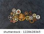 mechanism concept closeup view... | Shutterstock . vector #1228628365