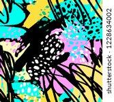 paint strokes seamless pattern... | Shutterstock . vector #1228634002