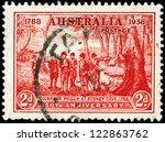 australia   circa 1937  a stamp ...   Shutterstock . vector #122863762