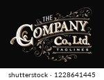 vintage typography label hand... | Shutterstock .eps vector #1228641445