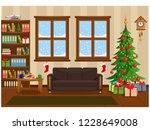vector illustration on happy... | Shutterstock .eps vector #1228649008