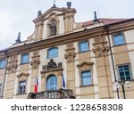 national library  in historical ... | Shutterstock . vector #1228658308