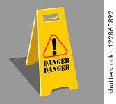 hazard warning attention sign | Shutterstock .eps vector #122865892