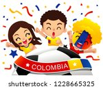 vector illustration of colombia ... | Shutterstock .eps vector #1228665325