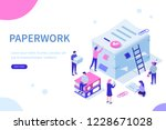 people do paperwork concept... | Shutterstock .eps vector #1228671028