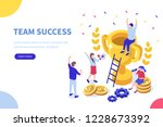 success concept banner. can use ... | Shutterstock .eps vector #1228673392